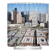 Aerial Of The Houston Skyline Shower Curtain