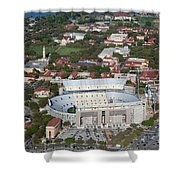 Aerial Of Tiger Stadium Shower Curtain