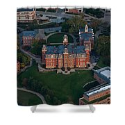 Aerial Of Woodburn Hall Shower Curtain