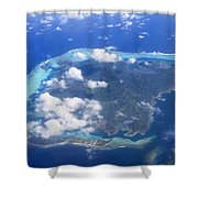 Aerial Over Atoll Shower Curtain
