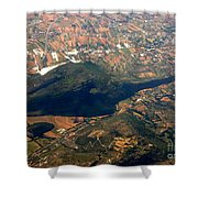 Aerial Photography - Hill Like A Big Mouse  Shower Curtain