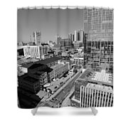 Aerial Photography Downtown Nashville Shower Curtain by Dan Sproul