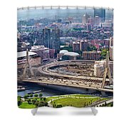 Aerial Shot Of Boston Shower Curtain