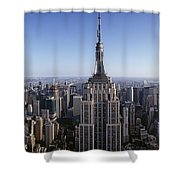 Aerial View Of A Cityscape, Empire Shower Curtain