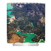 Aerial View Of Andalusia. Spain Shower Curtain