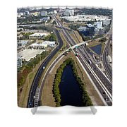 Aerial View Of City Of Tampa Shower Curtain