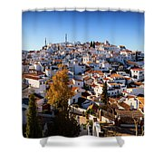 Aerial View Of Comares Village, One Shower Curtain