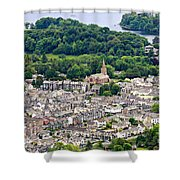 Aerial View Of Keswick In The Lake District Cumbria Shower Curtain