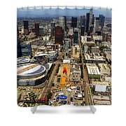 Aerial View Of Los Angeles Shower Curtain