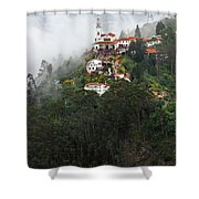 Aerial View Of Monserrate Church Shower Curtain