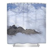 Aerial View Of Mt Kinabalu Borneo Shower Curtain