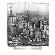 Aerial View Of Nyc Battery Shower Curtain