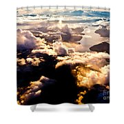 Aerial View Of Pacific Coast Of Bc Canada Shower Curtain