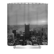 Aerial View Of Pittsburgh Shower Curtain