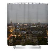 Aerial View Of Riga Shower Curtain