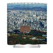 Aerial View Of Seoul South Korea Shower Curtain