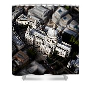 Aerial View Of St Pauls Cathedral Shower Curtain