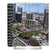 Aerial View Of Sydney City Hall Shower Curtain