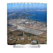 Aerial View Of Tampa And St. Petersburg Shower Curtain