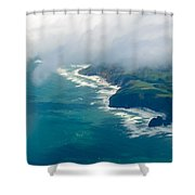 Aerial View Of Tasman Sea Shore Nz North Island Shower Curtain
