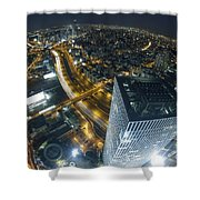 Aerial View Of Tel Aviv Shower Curtain