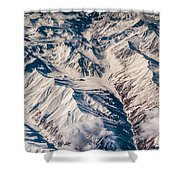 Aerial View Of The Mountains Shower Curtain