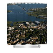 Aerial View Of The New Husky Stadium Shower Curtain