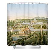 Aerial View Of The Villa Of King Shower Curtain