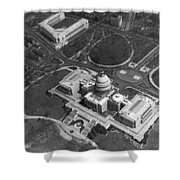 Aerial View Of U.s. Capitol Shower Curtain