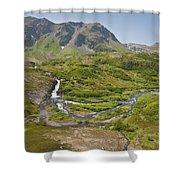 Aerial View Of Waterfall And River In Shower Curtain