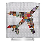 Aeroplane Jet Fly Showcasing Navinjoshi Gallery Art Icons Buy Faa Products Or Download For Self Prin Shower Curtain by Navin Joshi
