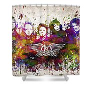Aerosmith In Color Shower Curtain by Aged Pixel