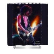 Aerosmith-joe-94-gb26a-fractal Shower Curtain