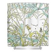 Aesop: Ant & Grasshopper Shower Curtain