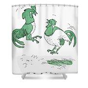 Aesop: Cocks Fighting Shower Curtain