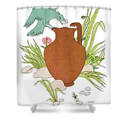 Aesop: Crow & Pitcher Shower Curtain