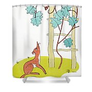 Aesop: Fox And Grapes Shower Curtain