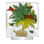 Aesop: Tortoise & The Hare Shower Curtain