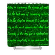 Aesthetic Quote 1 Shower Curtain