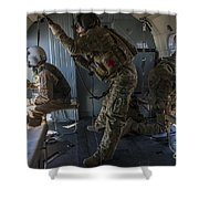 Afghan Air Force Members Shower Curtain