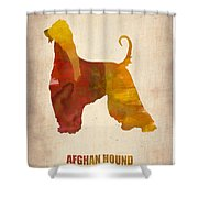 Afghan Hound Poster Shower Curtain