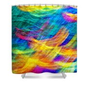 Afghan Waves Shower Curtain