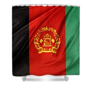 Afghanistan Flag Shower Curtain by Les Cunliffe