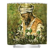 Afghani Harvest - Watercolor Shower Curtain