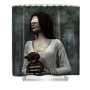 Afraid Of The Dark Shower Curtain