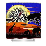 Africa At Sunset  Shower Curtain
