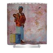 Africa Child Shower Curtain