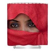 Africa, Ethiopia, Close Up Of Young Shower Curtain