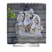 Africa Statue - New York City Shower Curtain