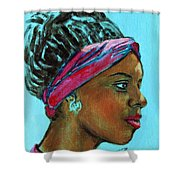 African American 5 Shower Curtain
